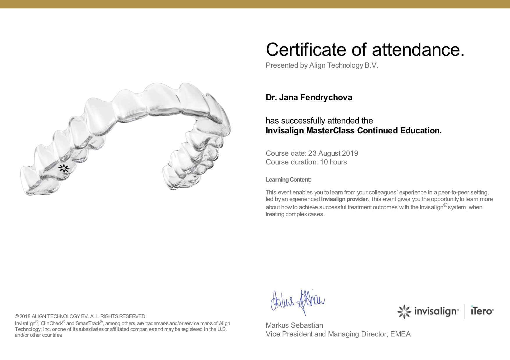 Invisalign MasterClass Continued Education